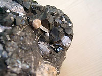 Blende marmatite, galena and rhodochrosite